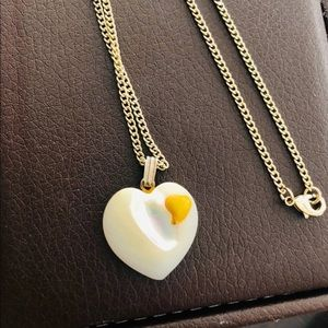 Mother-Of-Pearl Heart Necklace